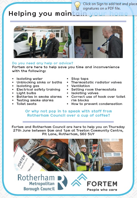 Helping you Maintain your Home - Rother Vale Ward News