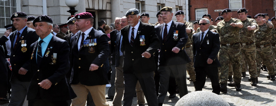 Picture of armed forces serviceman and veterans