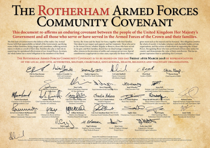 Rotherham Armed Forces Community Covenant declaration