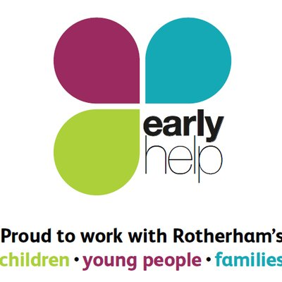 Early Help Logo - Proud to work with Rotherham's children, young people, families