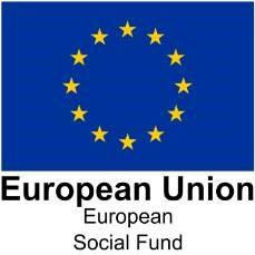 European Social Fund logo with European Flag