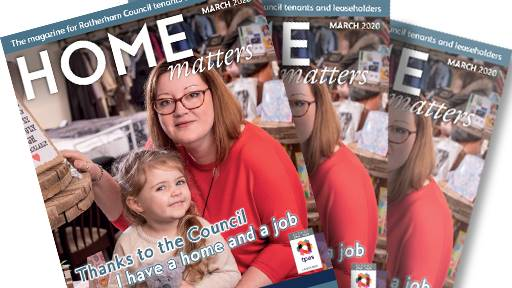 Home Matters Magazines with woman and child on cover