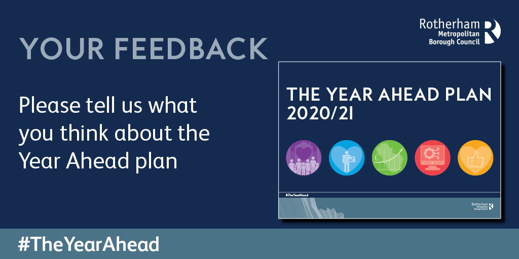 Your Feedback with front cover of the Year Ahead Plan